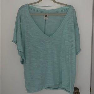 Free people mint green boxy t shirt tunic